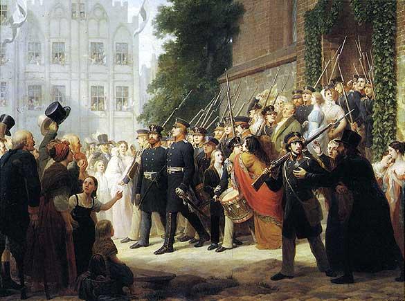 Auszug der ostpreu�ischen Landwehr 1813